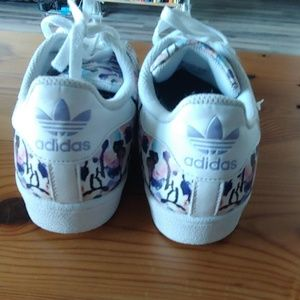 adidas Shoes - Floral Adidas Superstar - Size 7 - Great Condition